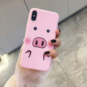 NEW iPhone Max/XR/X/XS/7/8/Plus Cute Pig Case